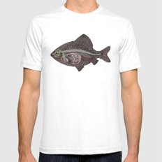 italian fish Mens Fitted Tee SMALL White