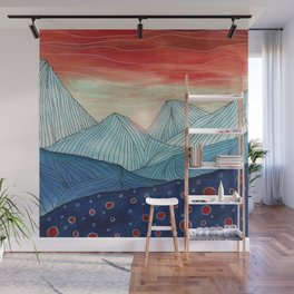 Lines in the mountains IV Wall Mural