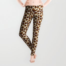 Autumn Acorn Pattern Leggings