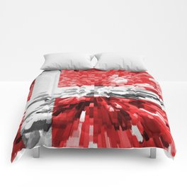 Extruded Flag of Denmark Comforters