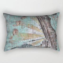 the boat wall Rectangular Pillow