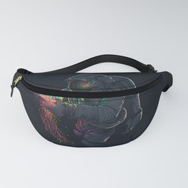 astronaut jellyfish space digital art Fanny Pack