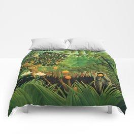 """Henri Rousseau """"Exotic landscape"""", 1910 Comforters"""