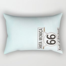Travel photography Santa Monica XV 66 End of the Trail Rectangular Pillow