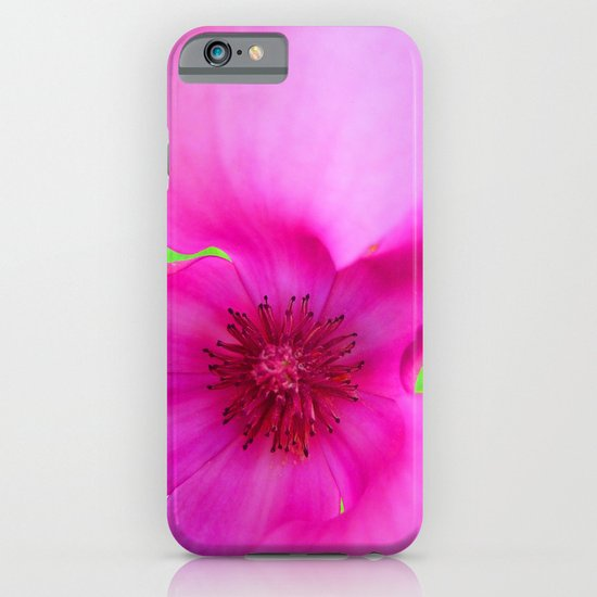 Shocking Pink Flower iPhone & iPod Case