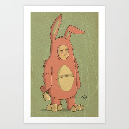 I Like My New Bunny Suit Art Print