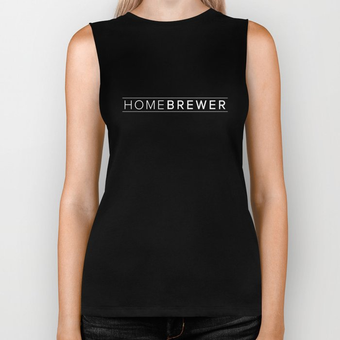 Homebrewer (White) Biker Tank