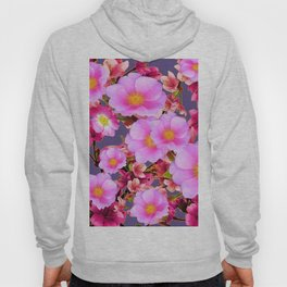 PURPLE ACCENTS PINK  GARDEN  FRUIT TREES FLOWERS Hoody