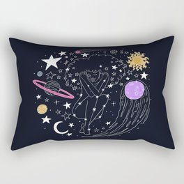 Universe girl Rectangular Pillow