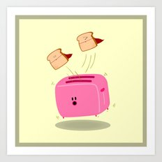 Toast! Art Print