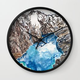 New Zealand Southern Alps - aerial landscape - mountains - hiking Wall Clock