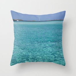 Bahamas Sailing Adventure Turquoise Waters Throw Pillow