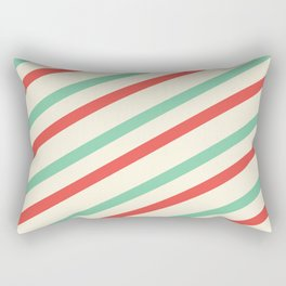 Red And Green Stripes  Rectangular Pillow