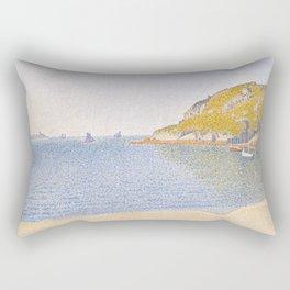 Port of Saint-Cast Rectangular Pillow