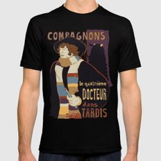 Le Fourth Doctor Black Mens Fitted Tee 2X-LARGE