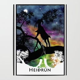 Heidrun - The Goat of Norse Mythology Poster