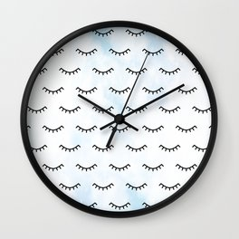 Sleeping Eyes and Eyelashes Wall Clock