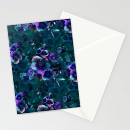 Moody Florals petrol by Odette Lager Stationery Cards