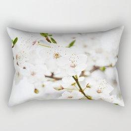 White blooming Rectangular Pillow