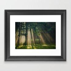 Heavenly Light Sunrise Landscape Framed Art Print