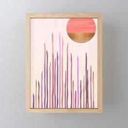 Desert Sunset Framed Mini Art Print