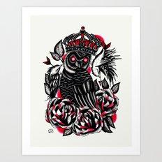 Tattoo Owl Art Print