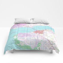 Punta Gorda & Port Charlotte Florida Map (1957) Comforters