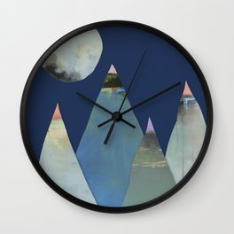 Moons and Mountains Wall Clock