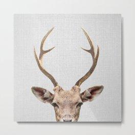 Deer - Colorful Metal Print