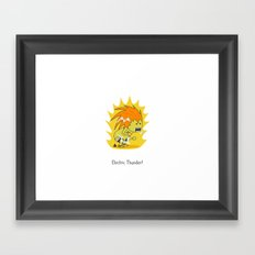 Electric Thunder! Framed Art Print