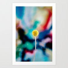 yellow poppy colorful art Art Print