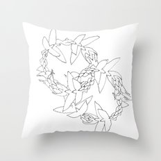 Flying in Circles Throw Pillow