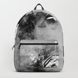 dolphin splatter watercolor black white Backpack