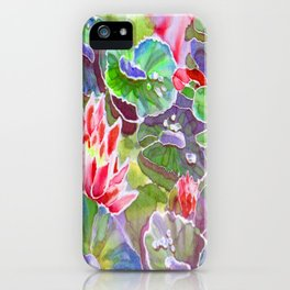 original silk painting of water lilies iPhone Case