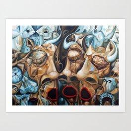 Splitting The Bull Art Print