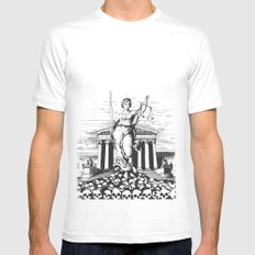 The Skulls of Justice MEDIUM White Mens Fitted Tee