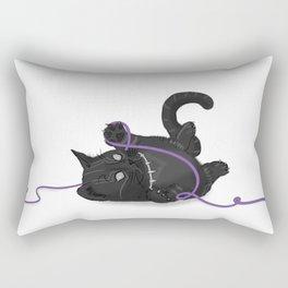 Black Kitten Rectangular Pillow