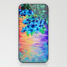 SHADES OF BEAUTIFUL - Stunning Bright BOLD Rainbow Ombre Pattern Blue Floral Hyacinth Nature Autumn iPhone & iPod Skin