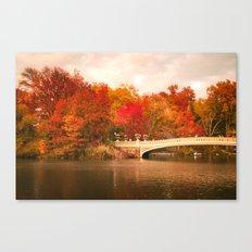 New York City Autumn Magic in Central Park Canvas Print