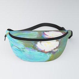 Water Lilies By Claude Monet - Aqua Remix Fanny Pack
