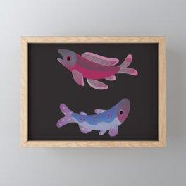 Salmon - dark Framed Mini Art Print