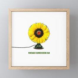ORGANIC INVENTIONS SERIES: Vintage Flower Desk Fan Framed Mini Art Print