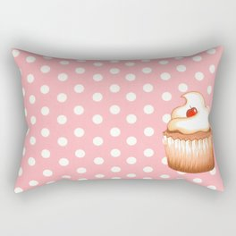 Cupcake and polka dots Rectangular Pillow
