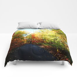 Into the Fall Forest Comforters