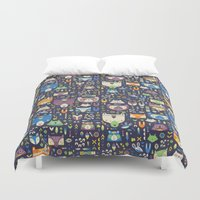 wild things Duvet Covers featuring Wild Things by Paula McGloin Studio