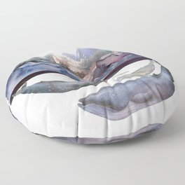Mountains and Whales Floor Pillow