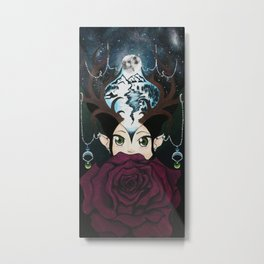 La Lune Rose` Metal Print