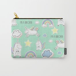 I'm a unicorn - green Carry-All Pouch