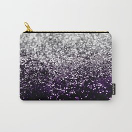 Dark Night Purple Black Silver Glitter #1 #shiny #decor #art #society6 Carry-All Pouch