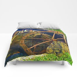 Gristmill Water Wheel Comforters